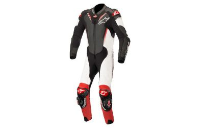 Костюм ATEM V3 LEATHER SUIT 1PC BLACK WHITE RED