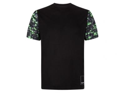 Черна тениска с цветни ръкави