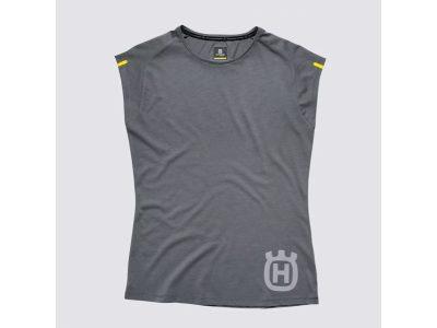Сива дамска тениска с лого.