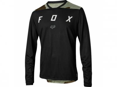 Блуза за велосипед с дълъг ръкав INDICATOR LS MASH CAMO JERSEY FOX