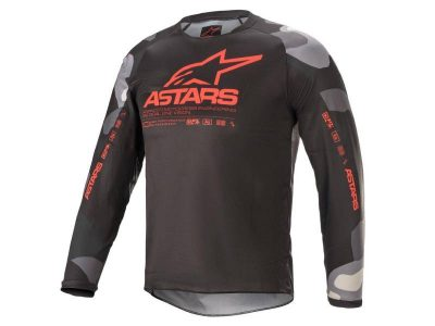Детска блуза YOUTH RACER TACTICAL JERSEY GRAY CAMO RED FLUO ALPINESTARS