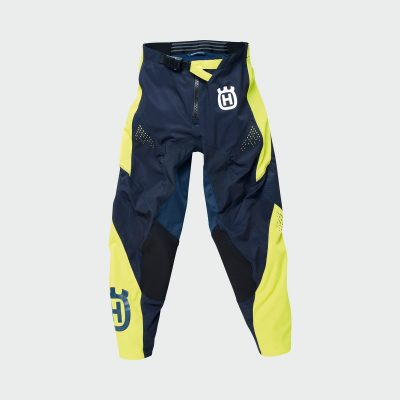 Синьо-жълт панталон с лого.