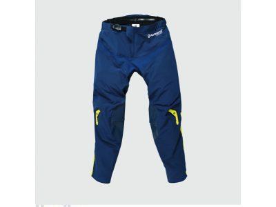 Синьо-жълти панталони с лого.