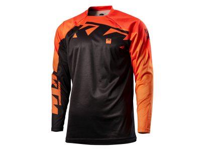 Оранжево-черна блуза с лого.