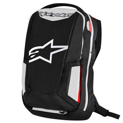 Раница CITY HUNTER BACKPACK BLACK WHITE RED ALPINESTARS