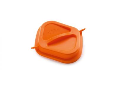 Оранжев капак за въздушен филтър.