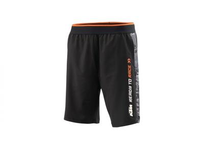 Черни спортни къси панталони с надпис.