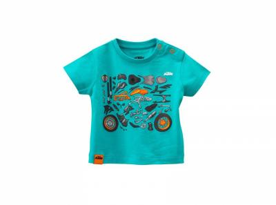 Синя бебешка тениска с картинки.