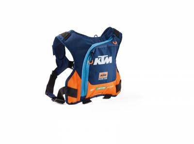 Синьо-оранжева раница за хидратация с лого.