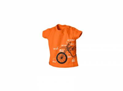 Оранжева детска тениска с картинки.