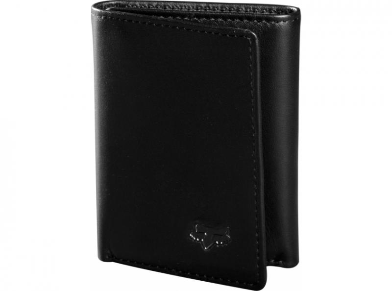Черен мъжки кожен портфейл