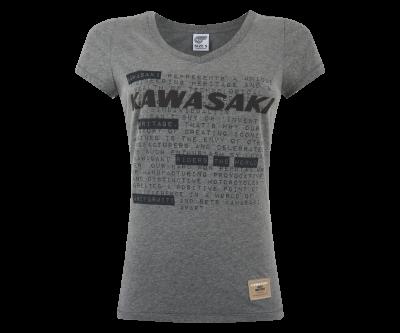 Сива дамска тениска с надпис.