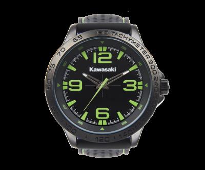 Черен часовник с надпис.
