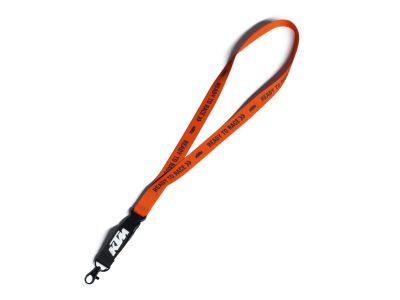 Оранжева връзка с лого.