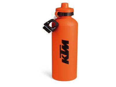 Оранжева бутилка с лого.