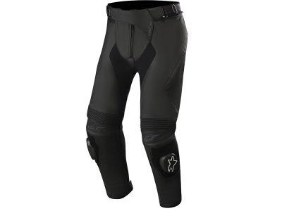 Сив, кожен панталон с лого.