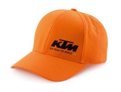 Оранжева шапка с лого.