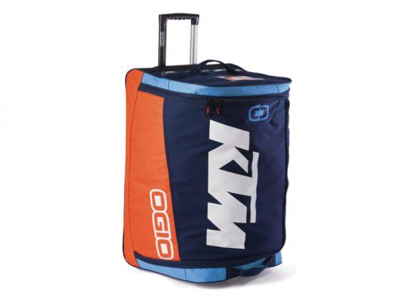 Оранжево-син сак с лого.
