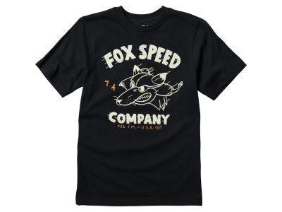 Черна детска тениска с лого и надпис.