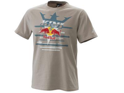 Мъжка сива тениска с принт