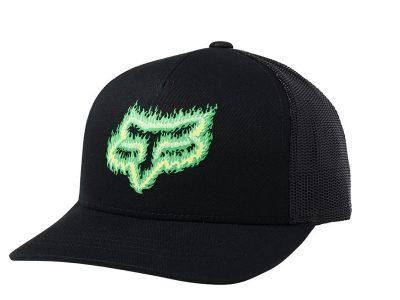 Детска шапка YOUTH FLAME HEAD SNAPBACK HAT BLK/GRN FOX