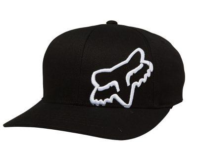 Детска шапка YOUTH FLEX 45 FLEXFIT HAT BLK/WHT FOX