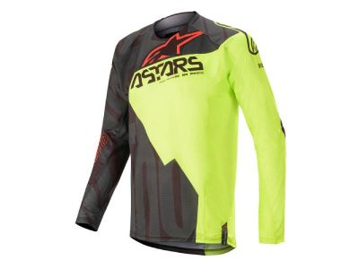 Блуза TECHSTAR FACTORY JERSEY BLACK YELLOW RED ALPINESTARS