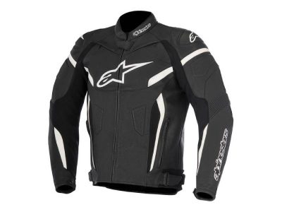 Кожено яке GP PLUS R V2 LEATHER JACKET BLACK WHITE ALPINESTARS