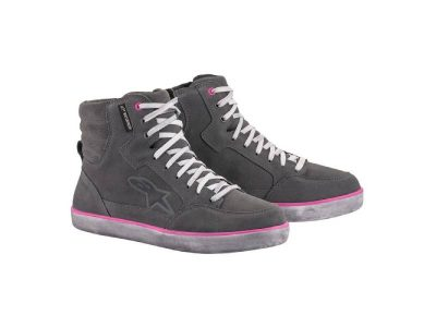 Дамски обувки J-6 WP WOMEN'S SHOES LIGHT GRAY FUCHSIA ALPINESTARS