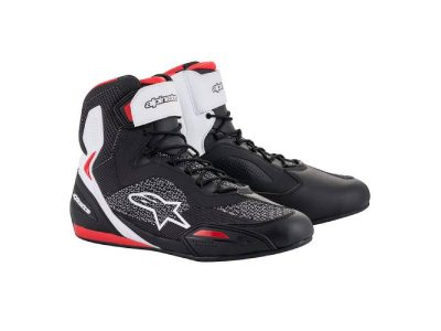 Обувки FASTER-3 RIDEKNIT SHOES BLACK WHITE RED ALPINESTARS