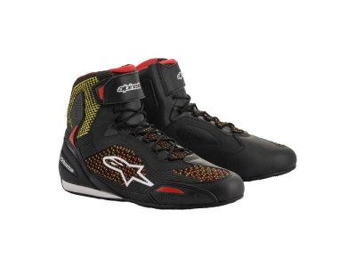 Обувки FASTER-3 RIDEKNIT SHOES BLACK YELLOW RED ALPINESTARS