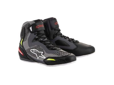 Обувки FASTER-3 RIDEKNIT SHOES BLACK GREY RED YELLOW FLUO ALPINESTARS