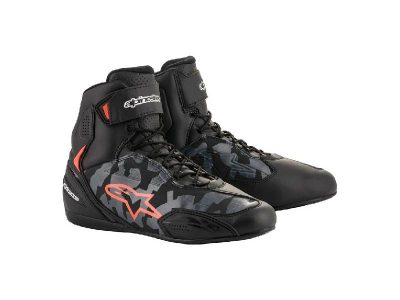Обувки FASTER-3 SHOES BLACK GREY CAMO RED FLUO ALPINESTARS