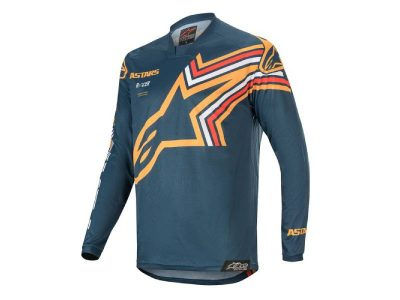 Блуза RACER BRAAP JERSEY NAVY ORANGE ALPINESTARS