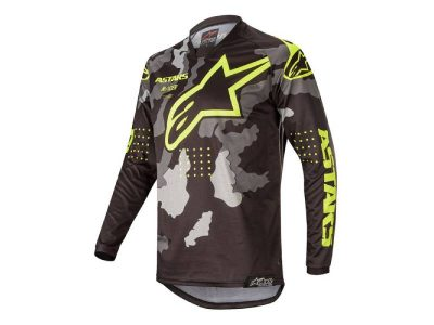 Блуза RACER TACTICAL JERSEY BLACK CAMO YELLOW FLUO ALPINESTARS