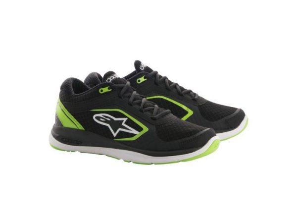 Обувки ALLOY SHOES BLACK GREEN ALPINESTARS