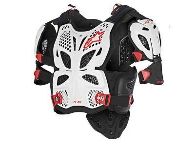Протектор A-10 FULL CHEST PROTECTOR WHITE BLACK RED ALPINESTARS