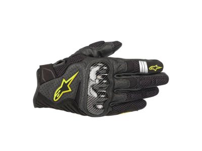 Ръкавици SMX-1 AIR V2 GLOVES BLACK YELLOW FLUO ALPINESTARS