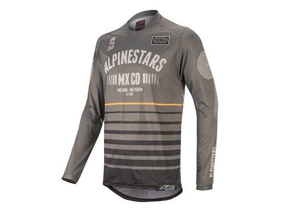 Блуза RACER TECH FLAGSHIP JERSEY DARK GRAY BLACK ORANGE ALPINESTARS