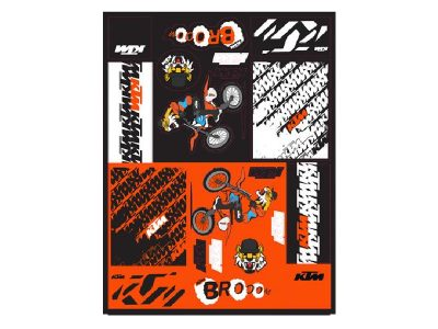 Стикери 3PW210024500 TEAM GRAPHIC STICKER SHEET КТМ