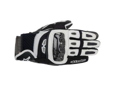 Ръкавици GP-AIR LEATHER GLOVES BLACK WHITE ALPINESTARS