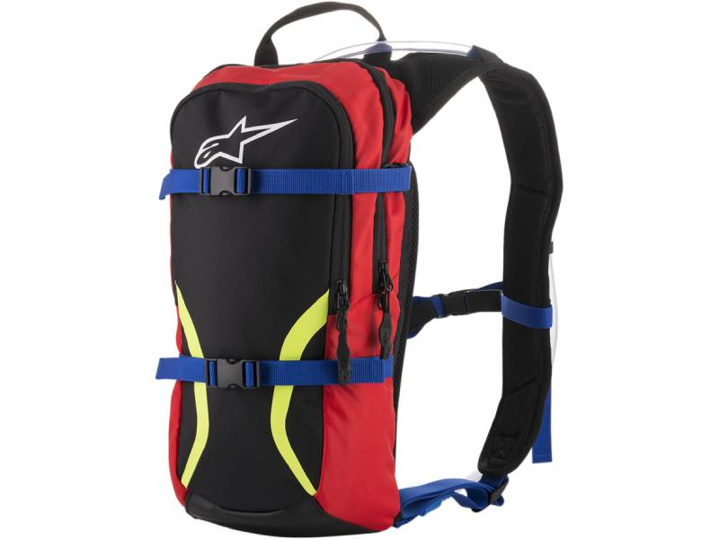 Раница IGUANA HYDRATION BACKPACK BLACK BLUE RED YELL FLUO ALPINESTARS