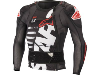 Протектор SEQUENCE PROTECTION JACKET LONG SLEEVE BLACK WHITE RED ALPINESTARS