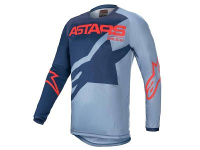 Детска блуза YOUTH RACER BRAAP JERSEY DARK BLUE POWDER BLUE BR RED ALPINESTARS