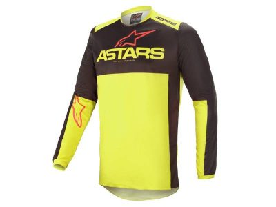 Блуза FLUID TRIPPLE JERSEY BLACK YELLOW FLUO BRIGHT RED ALPINESTARS