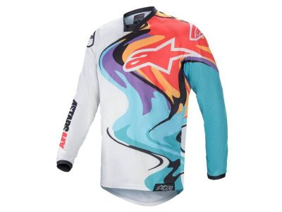 Блуза RACER FLAGSHIP JERSEY OFF WHITE MULTICOLOR ALPINESTARS