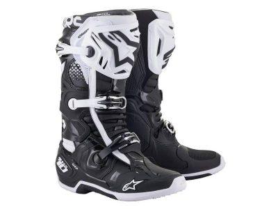 TECH 10 BLACK WHITE BOOTS