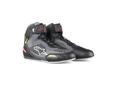 FASTER-3 RIDEKNIT SHOES BLACK GREY RED YELLOW FLUO